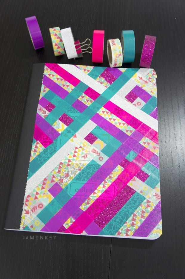 Washi Tape Notebook - Back to School Supplies