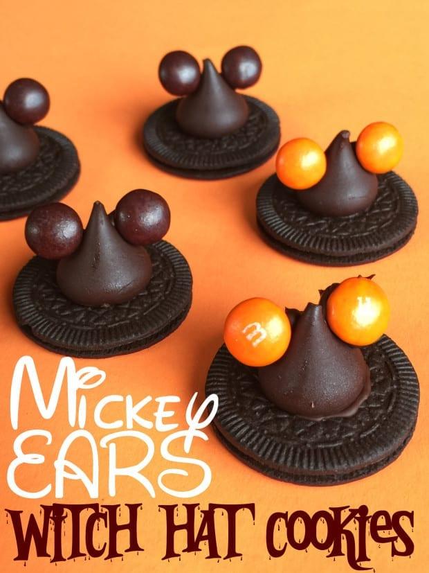 Disney Halloween Mickey Ear Witch Hat Cookies