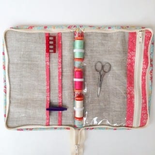 Zippered Sewing Travel Case Tutorial