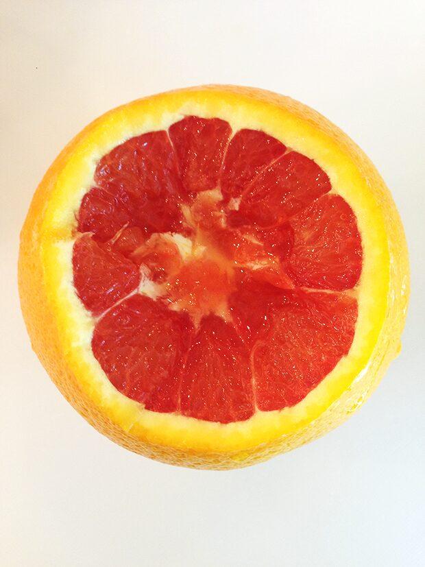 Orange Jack-O-Lantern with Fruit In-Process #1