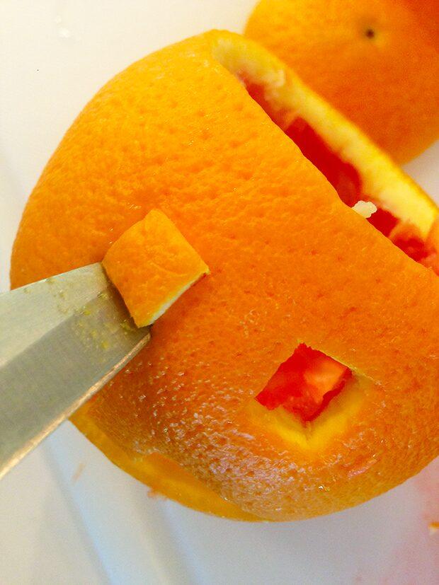 Orange Jack-O-Lantern with Fruit In-Process #6