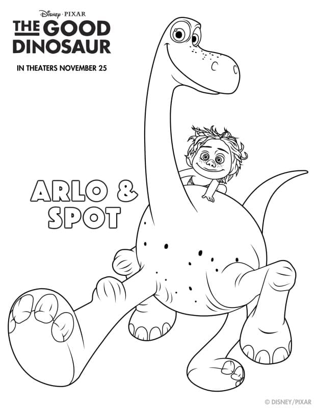 The Good Dinosaur Activity Sheets - Coloring Pages Printable