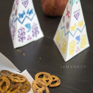 Teepee Treat Boxes with Sugared Pretzels