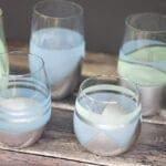 DIY Metallic and Sea Glass Drinking Glasses