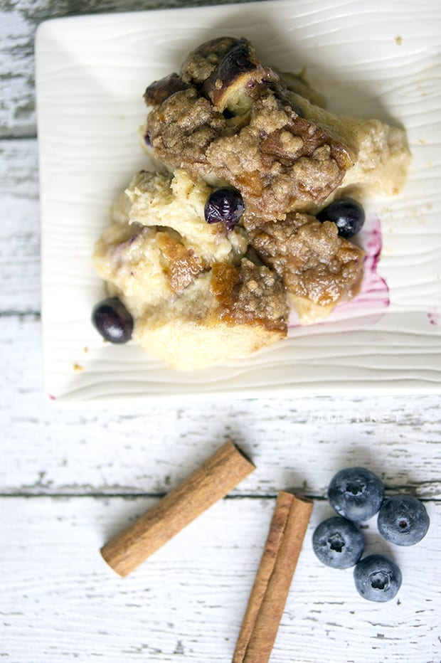 Blueberry Pull Apart French Toast Bread