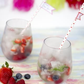 Very Berry Mint Sparkling Mocktail VIDEO