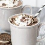 Cookies and Cream Dark Hot Chocolate Recipe