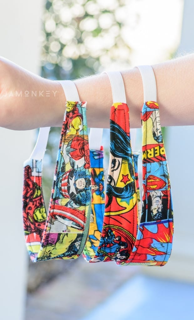 DIY Reversible Super Hero Headband