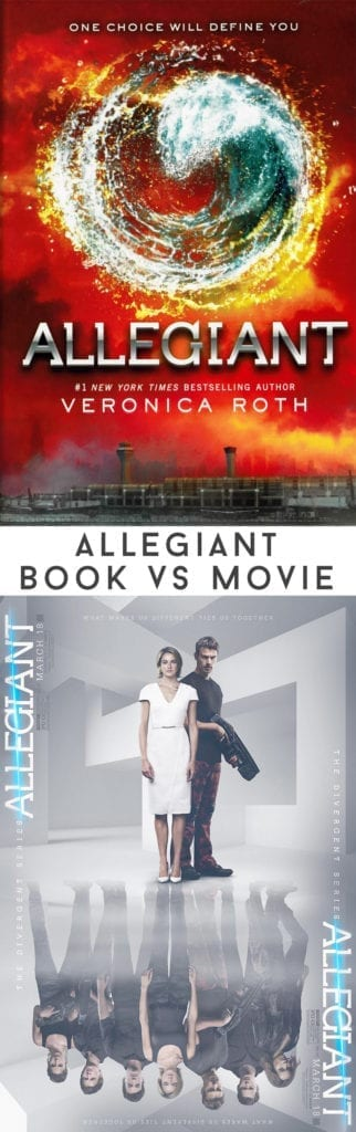 Differences between the Allegiant and movie.