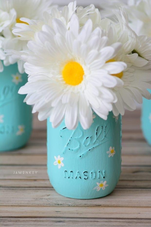 Daisy Mason Jar Craft