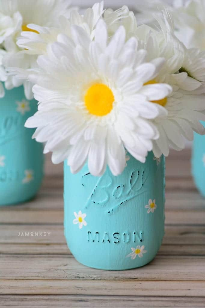 Daisy Mason Jar Craft Jamonkey