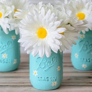 Daisy Mason Jar Craft