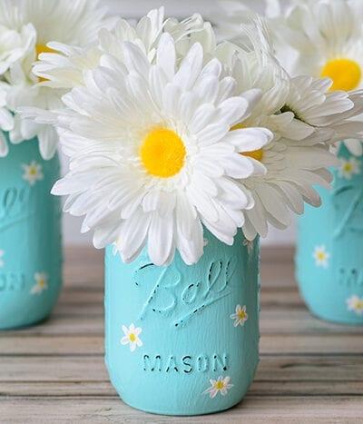 Daisy Mason Jars Craft