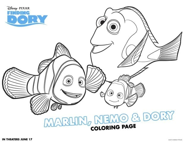 Finding Dory Activity and Color Sheets