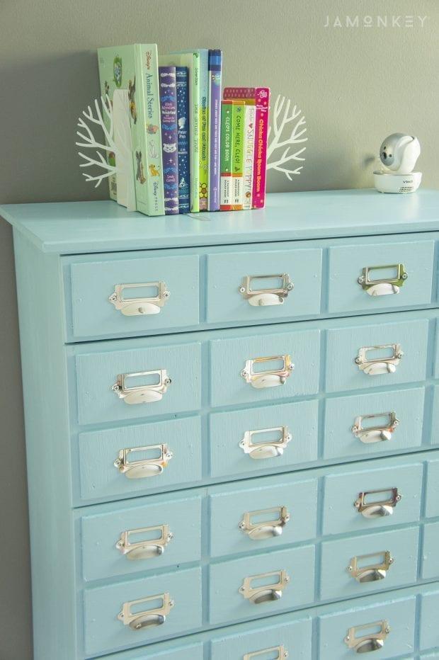 DIY Card Catalog Dresser