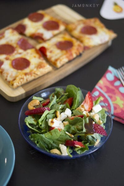 Family Game Night with Power Greens Salad