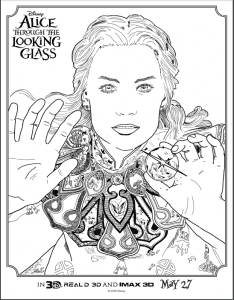 Alice's Through the Looking Glass Coloring Sheets