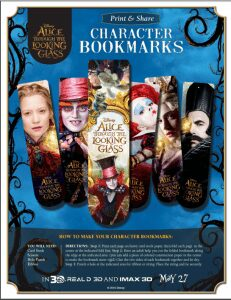 Alice's Through the Looking Glass Bookmarks