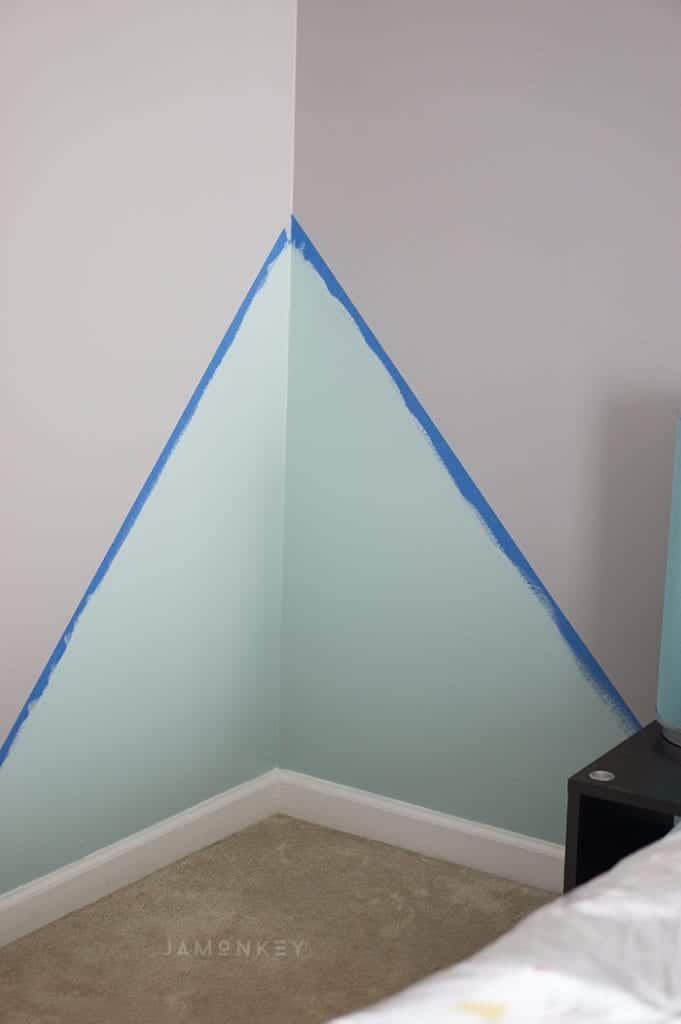 Geometric accent wall jamonkey for Geometric accent wall