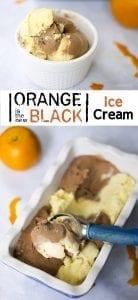 Orange is the New Black Ice Cream - Chocolate Orange