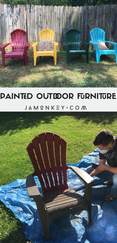 Painted Outdoor Furniture JaMonkey