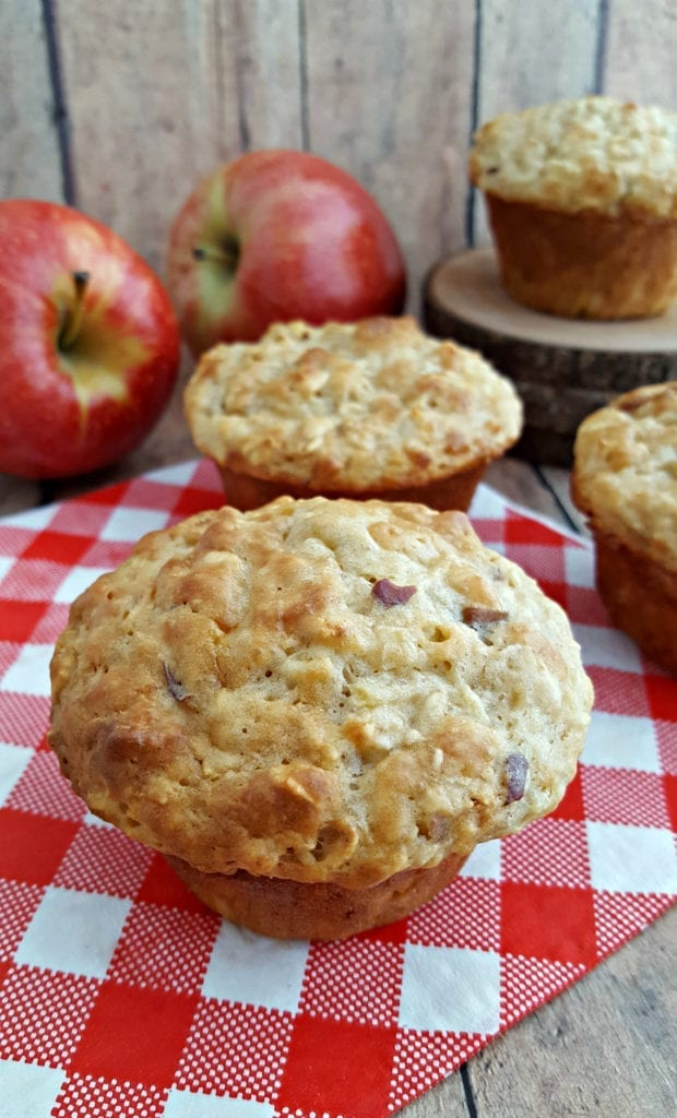 Healthy Apple Oat Muffins