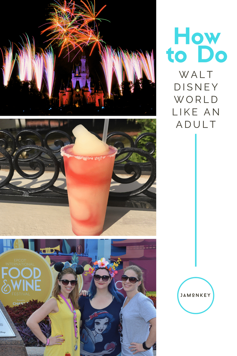 How to Do Walt Disney World Like an Adult. Tips for visiting Walt Disney Wolrd with friends or significant others and without kids to have a wonderful new experience that is still magical.