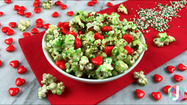 Christmas Popcorn Recipes.Grinch Popcorn