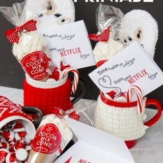 Merry Bingemas Teachers Gift – FREE Netflix Gift Card Printable