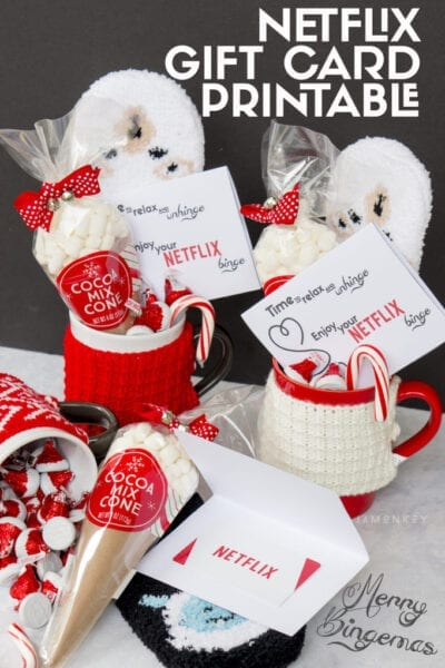 Merry Bingemas Teachers Gift - FREE Netflix Gift Card Printable