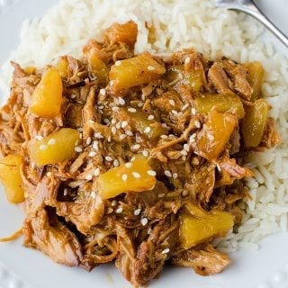 Slow Cooker Pineapple Teriyaki Pulled Chicken Recipe