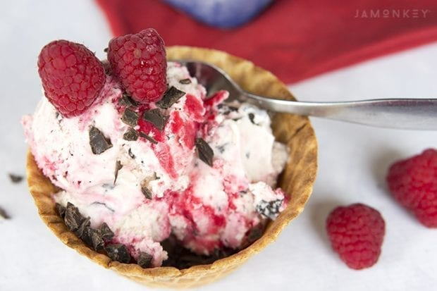 Raspberry Dark Chocolate Swirl Ice Cream