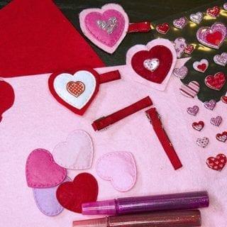 DIY Creative Galaxy Heart Day Hair Clips