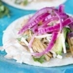 Instant Pot Chipotle Chicken Carnitas with Pickled Red Onions