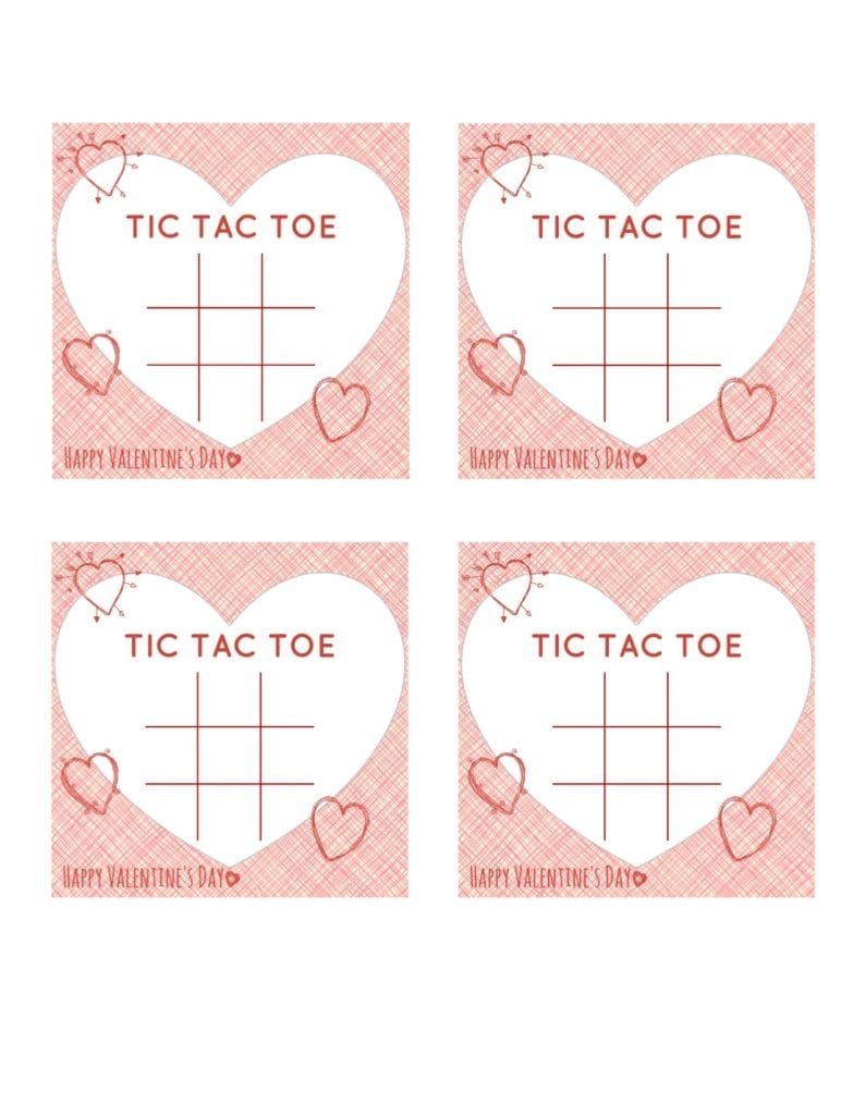 image relating to Tic Tac Toe Board Printable known as Tic Tac Toe Valentine Printable JaMonkey