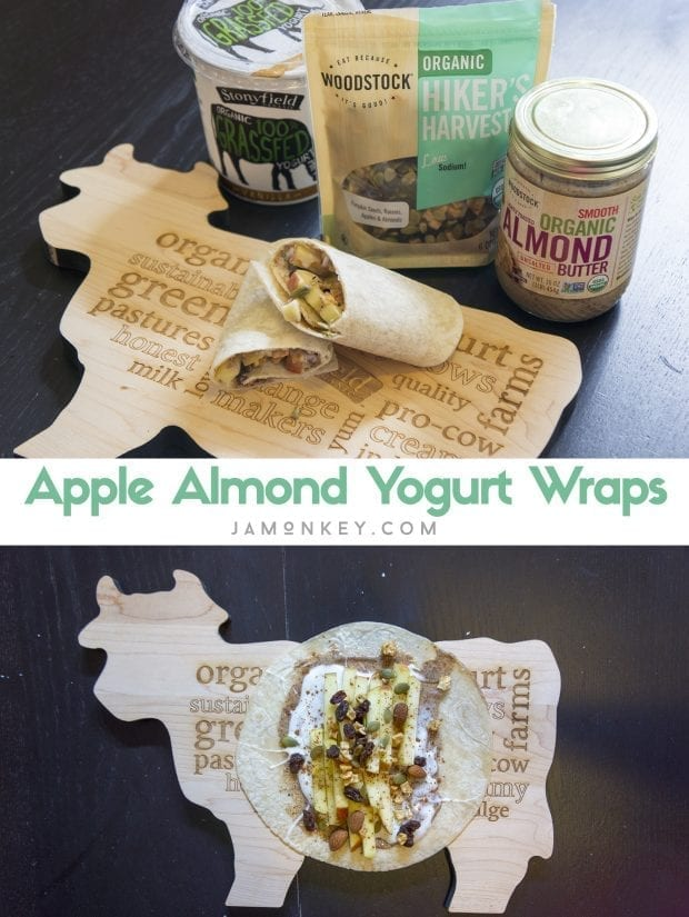 Apple Almond Yogurt Wraps