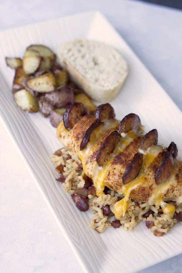 Cajun Hasselback Chicken