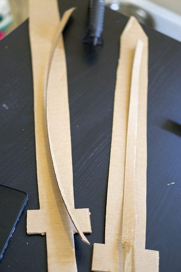Cardboard swords