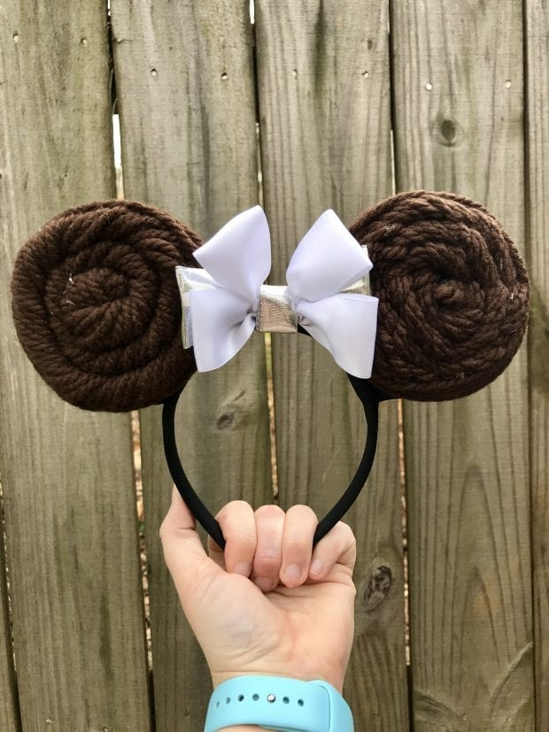 DIY Princess Leia Minnie Ears