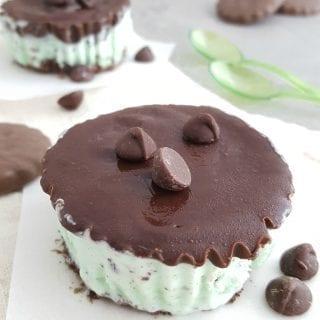 Mint Ice Cream Cookie Cups Recipe