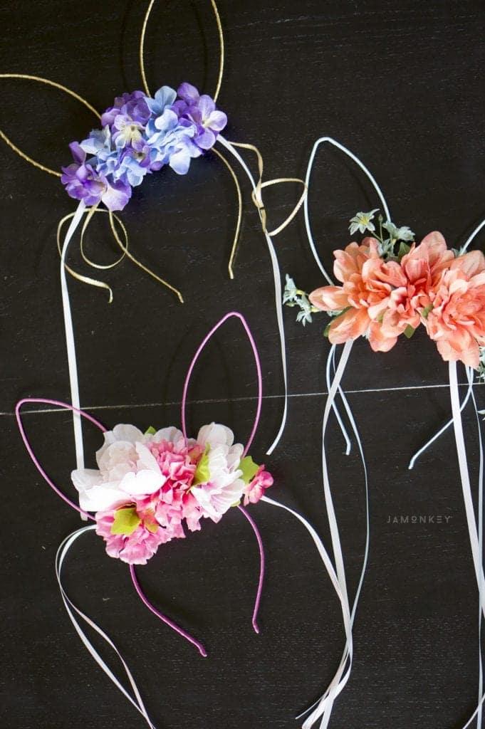Diy Spring Bunny Flower Crowns Video Jamonkey