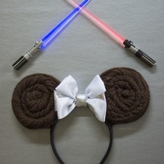 DIY Princess Leia Minnie Ears Headband