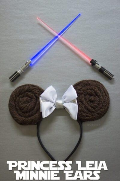 DIY Princess Leia Minnie Ears