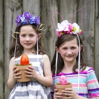 DIY Spring Bunny Flower Crowns VIDEO