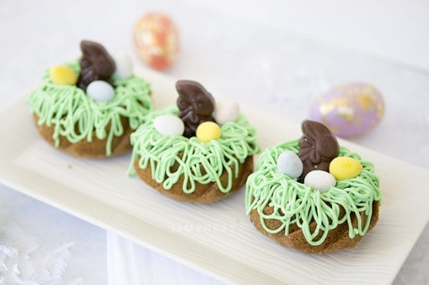 Purple Carrot Easter Bunny Bundtlette Cakes