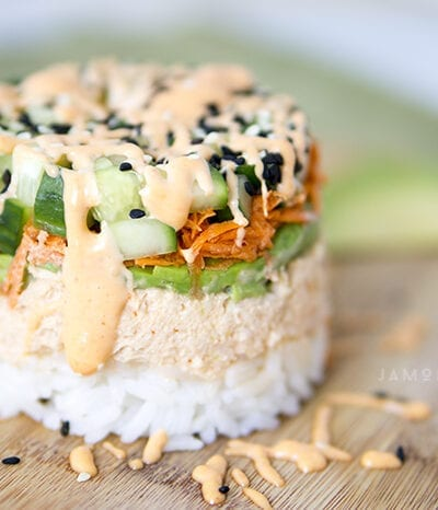 Spicy Tuna Sushi Stack
