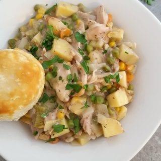 Easy Slow Cooker Chicken Pot Pie