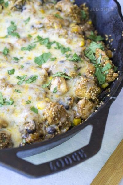One Pot Fiesta Chicken Enchilada Quinoa