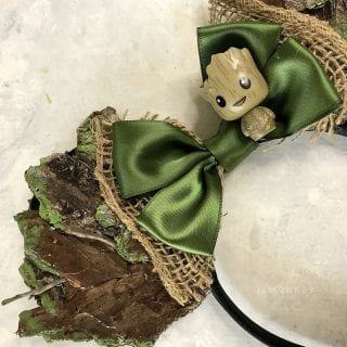 DIY Groot Minnie Mouse Ears