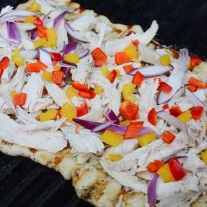 Grilled Chicken and Pepper Flatbread
